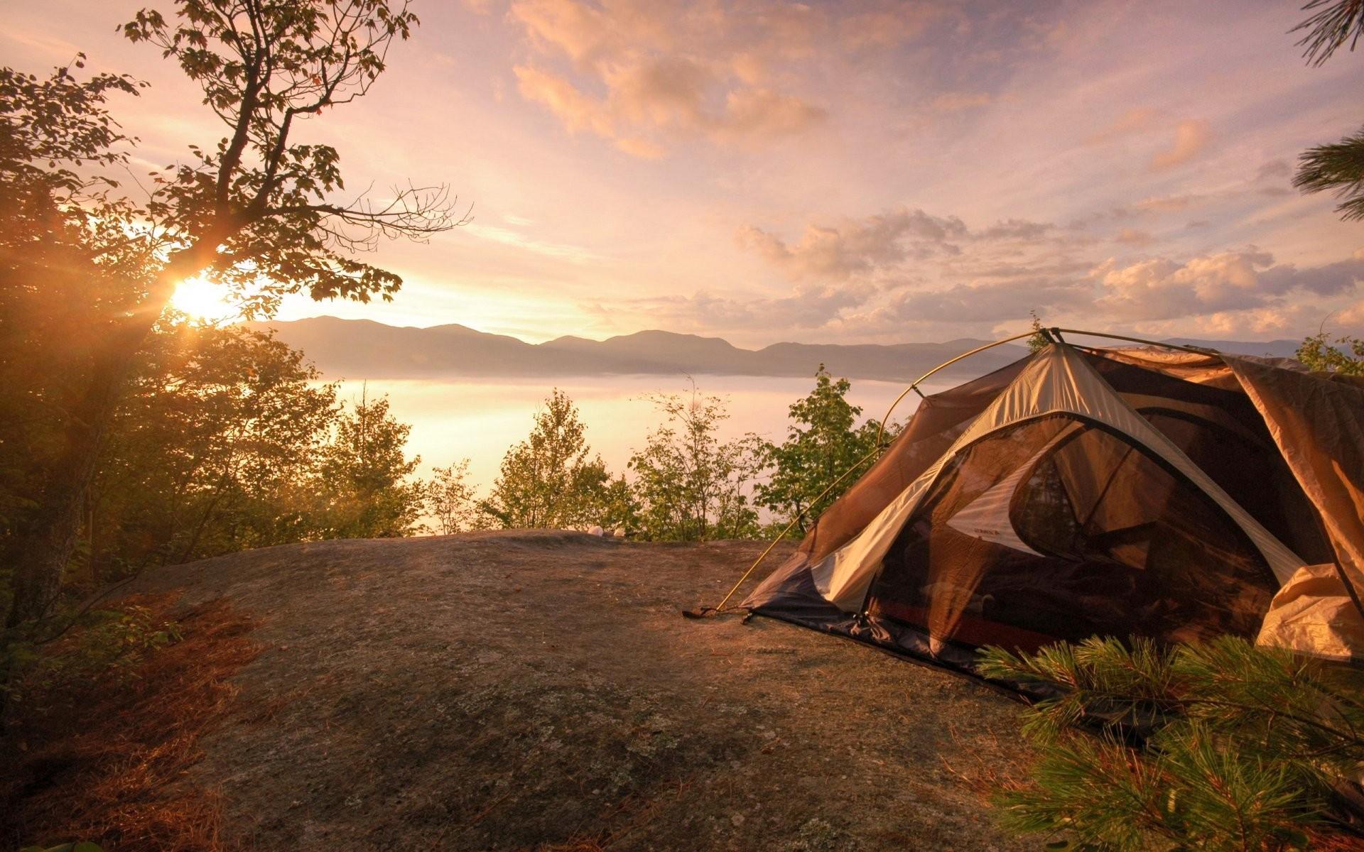 acampar no inverno