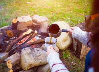 como preparar cafe no camping